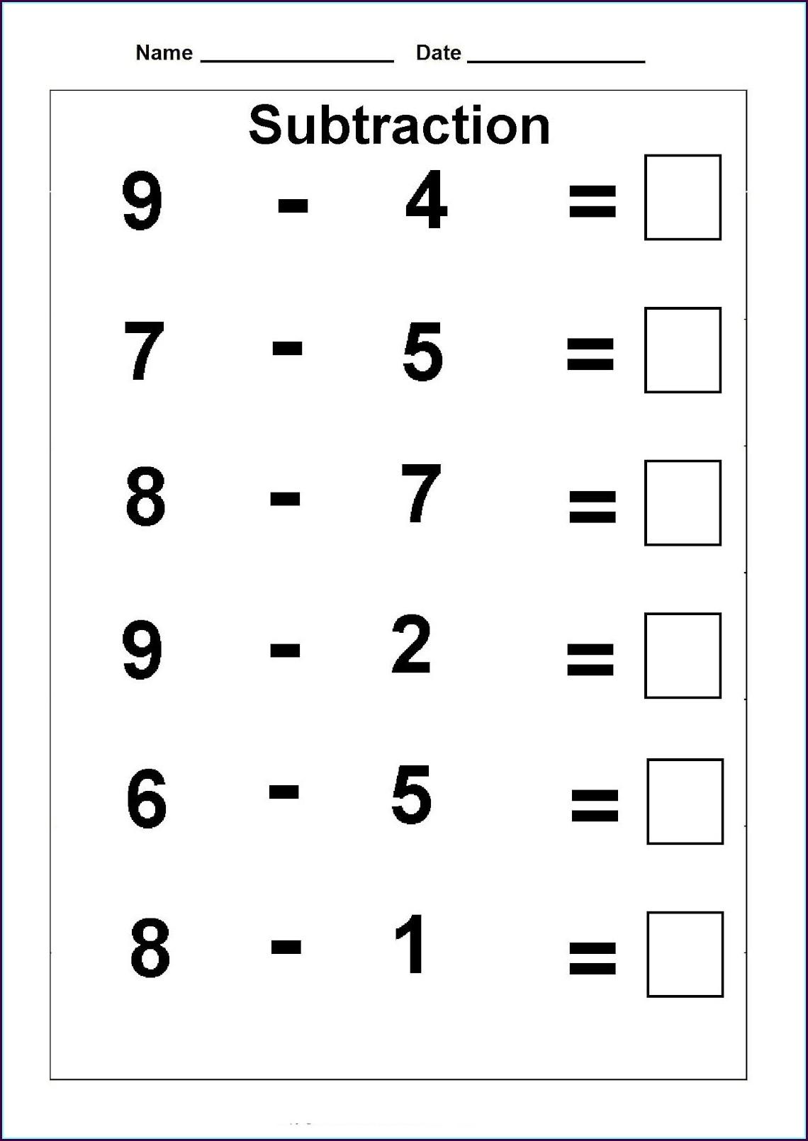 Free Math Worksheet For 1st Grade