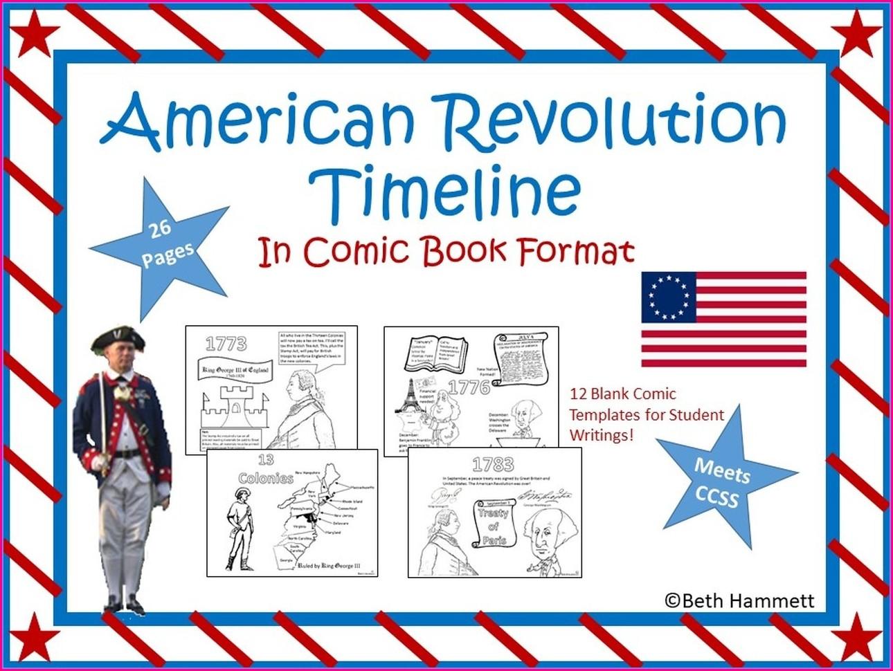 Free Printable American Revolution Timeline Worksheet Pdf