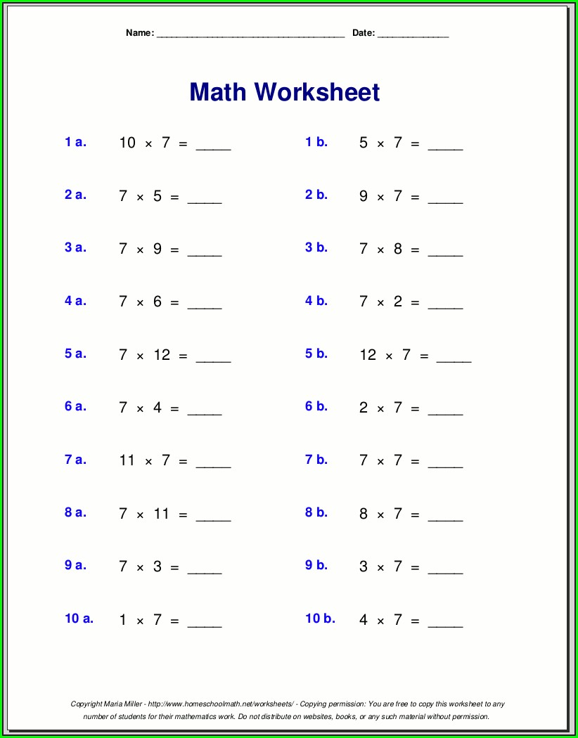 Free Printable Answer Key Free Printable 8th Grade Math Worksheets
