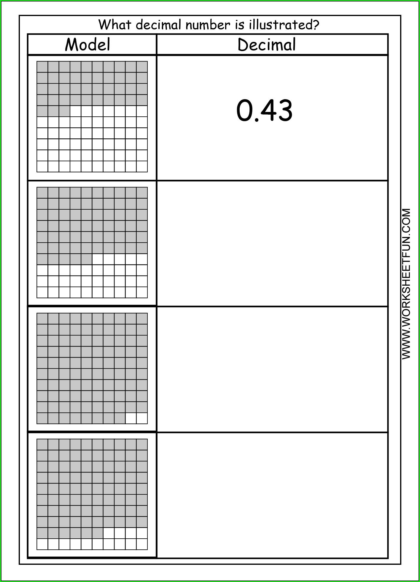 Free Printable Decimal Rounding Worksheets