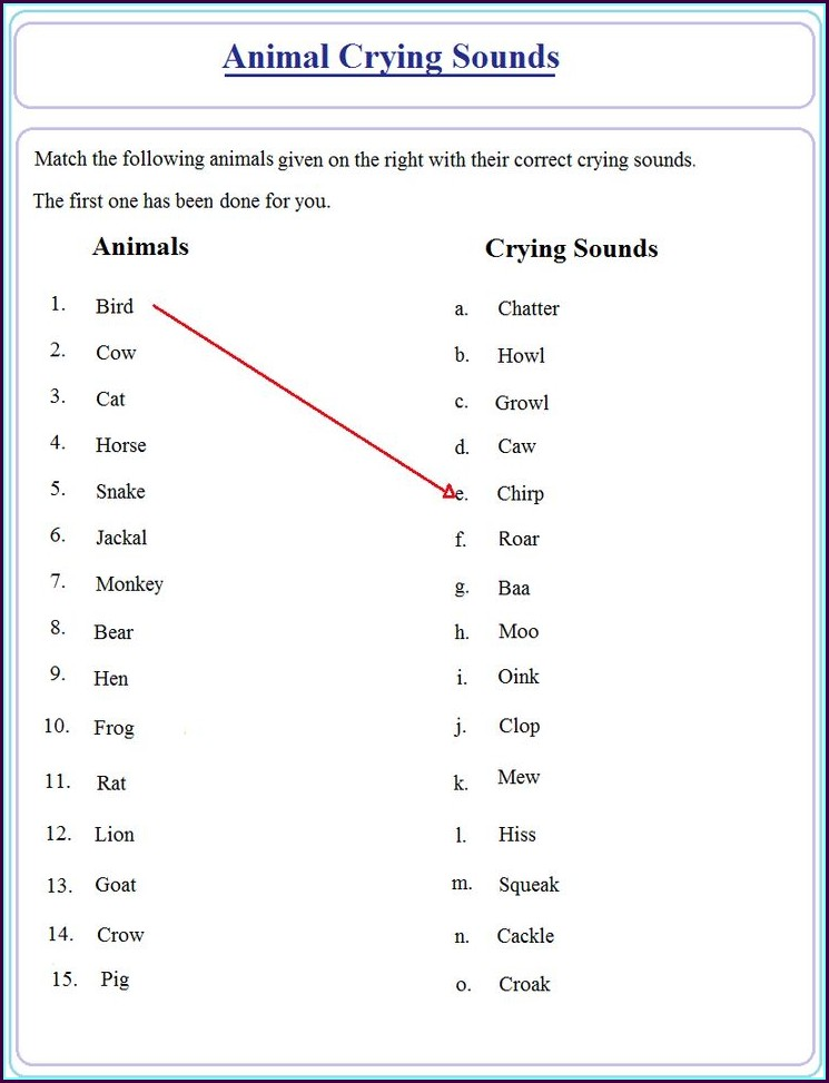 Free Printable English Grammar Grade 1 Worksheets
