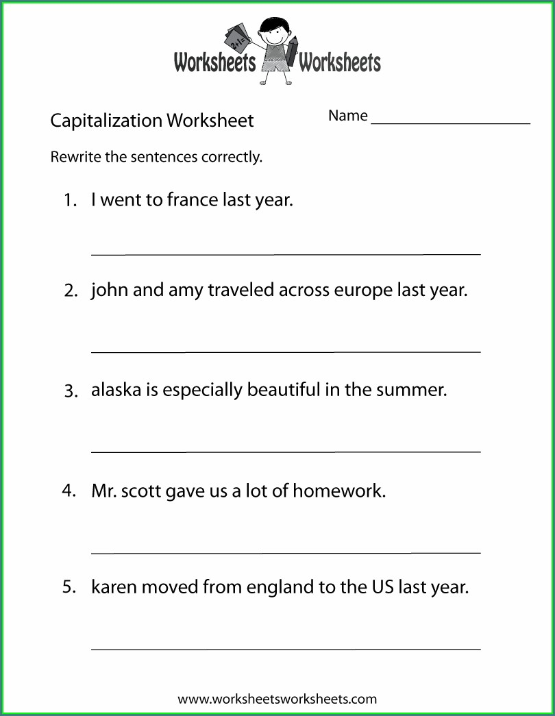 Free Printable Grade 2 English Worksheets