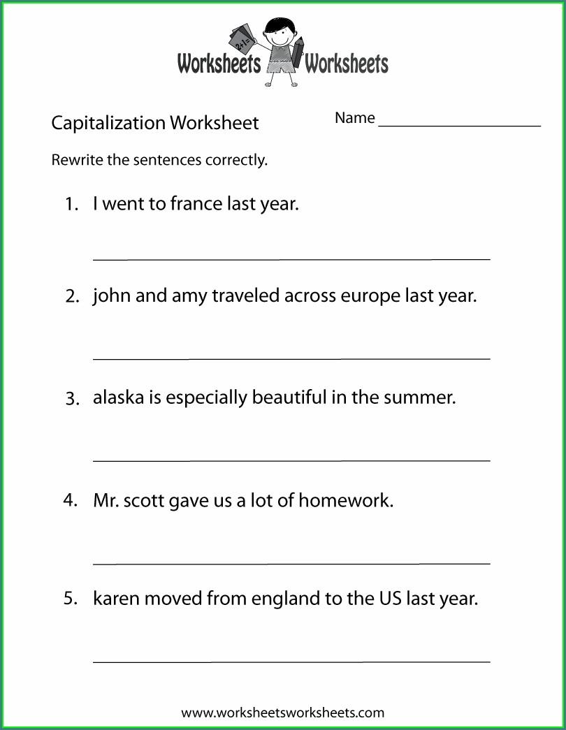 Free Printable Grade 2 English Worksheets