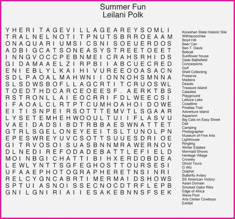 Free Printable Hard Word Searches