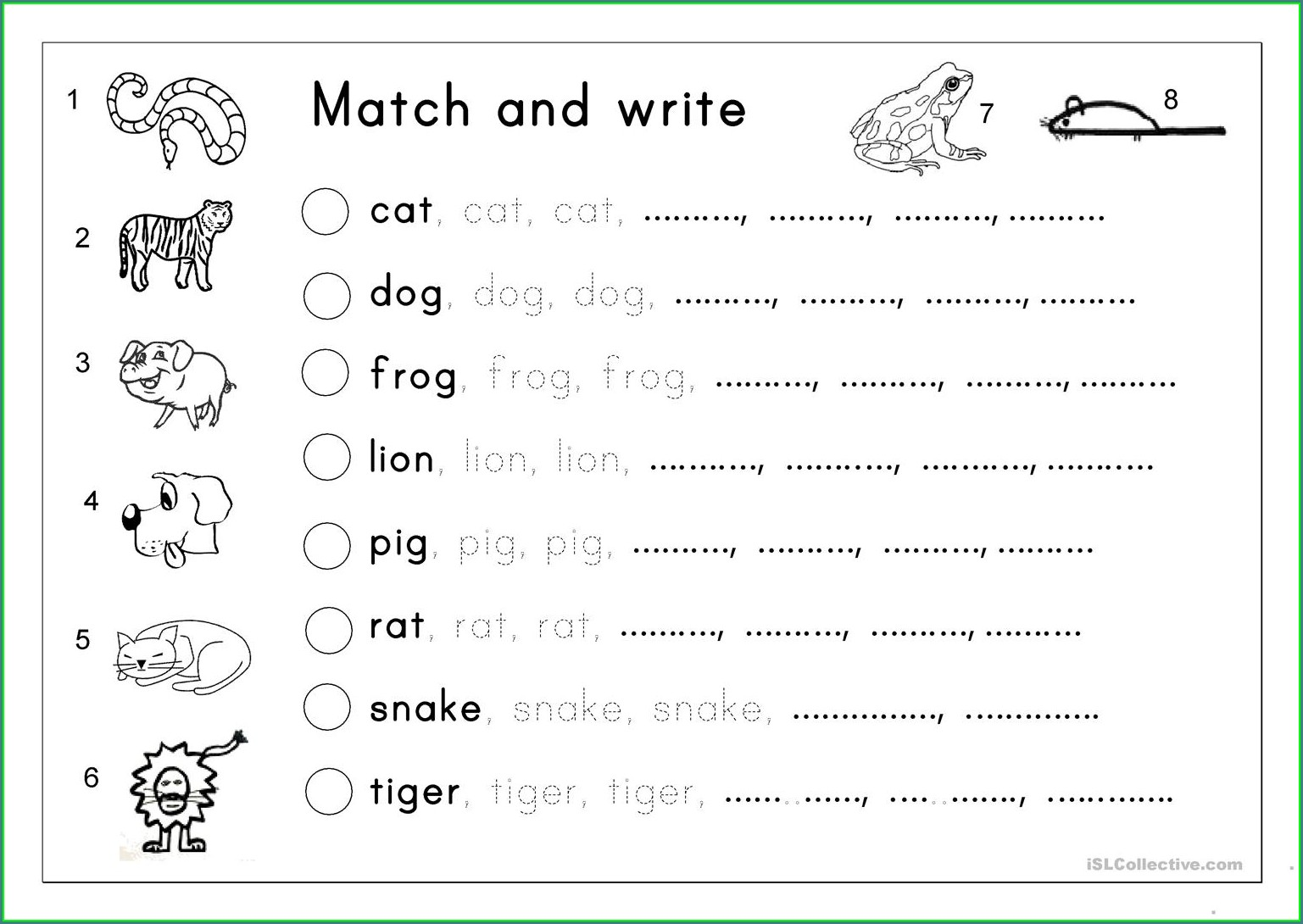 Free Printable Name Writing Worksheets