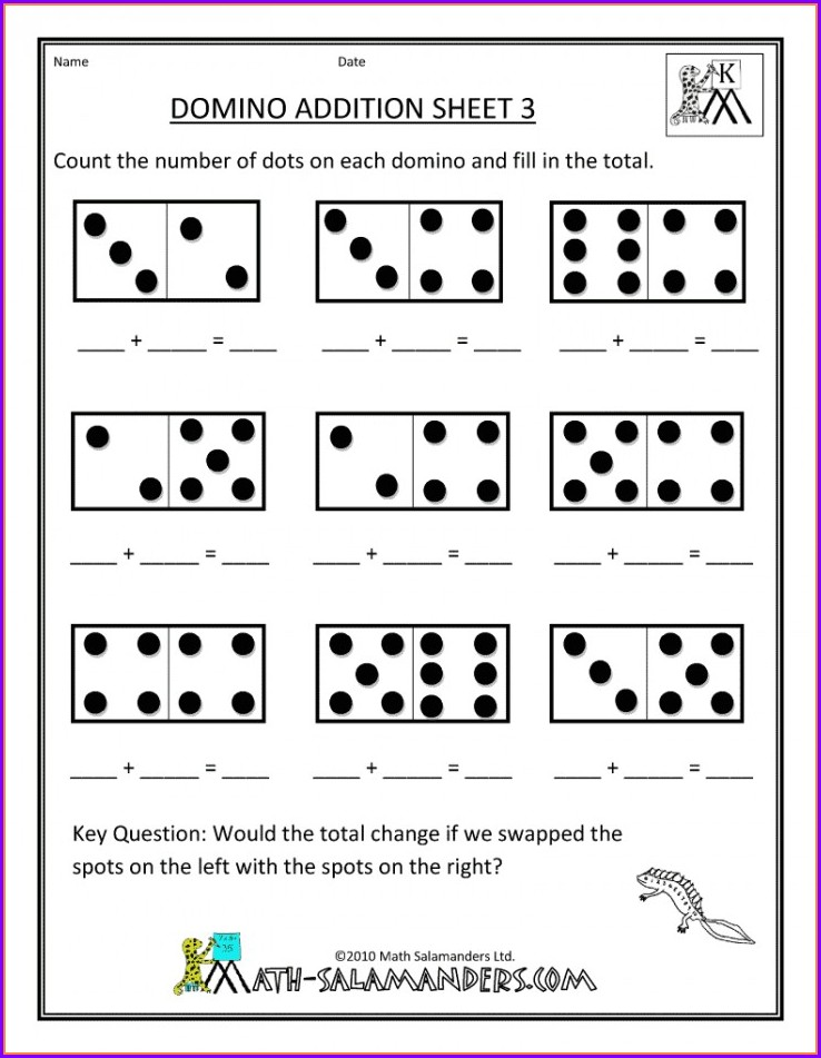 Free Printable Number Bonds Worksheets Kindergarten