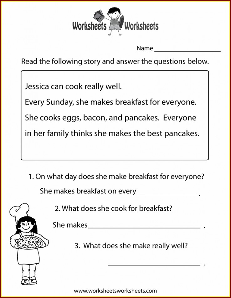 Free Printable Reading Comprehension Grade 2