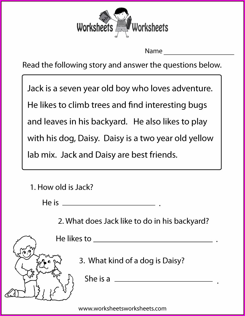 Free Printable Reading Comprehension Worksheets For 5th Grade