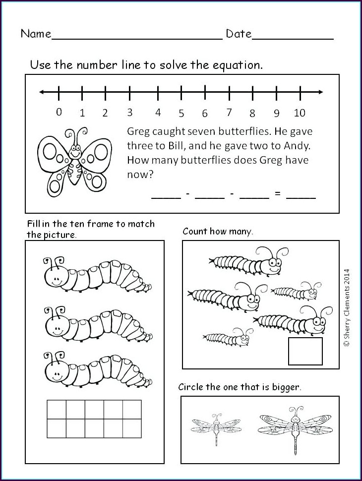 Free Word Problem Worksheets For Kindergarten
