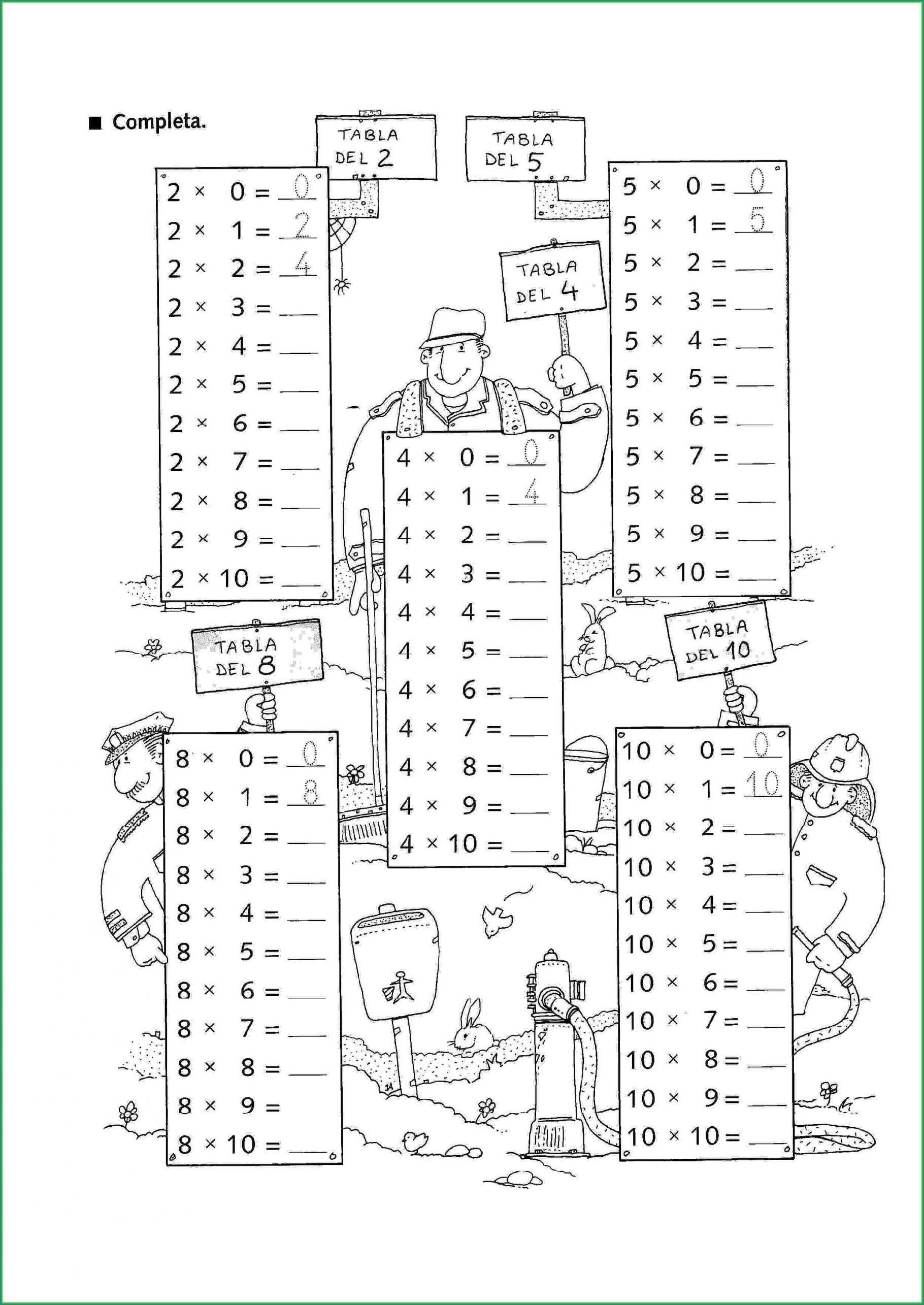 Fun Math Worksheet Multiplication