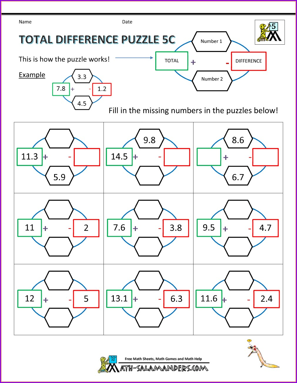 Fun Math Worksheets For Year 5