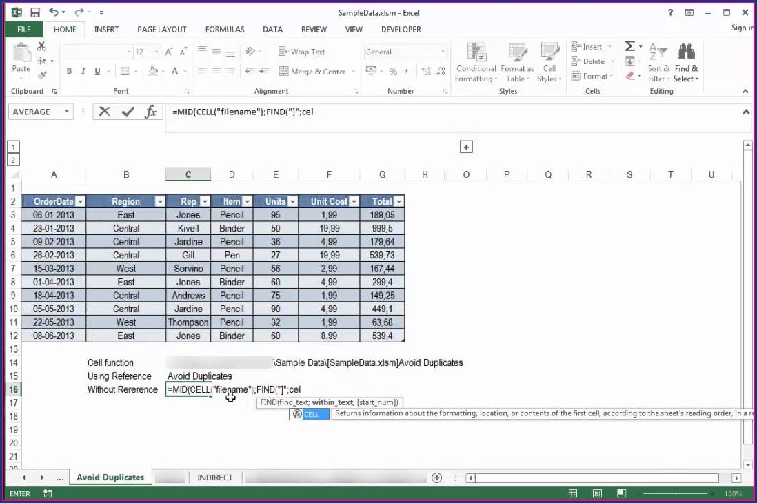 Get Worksheet Name In Excel Cell