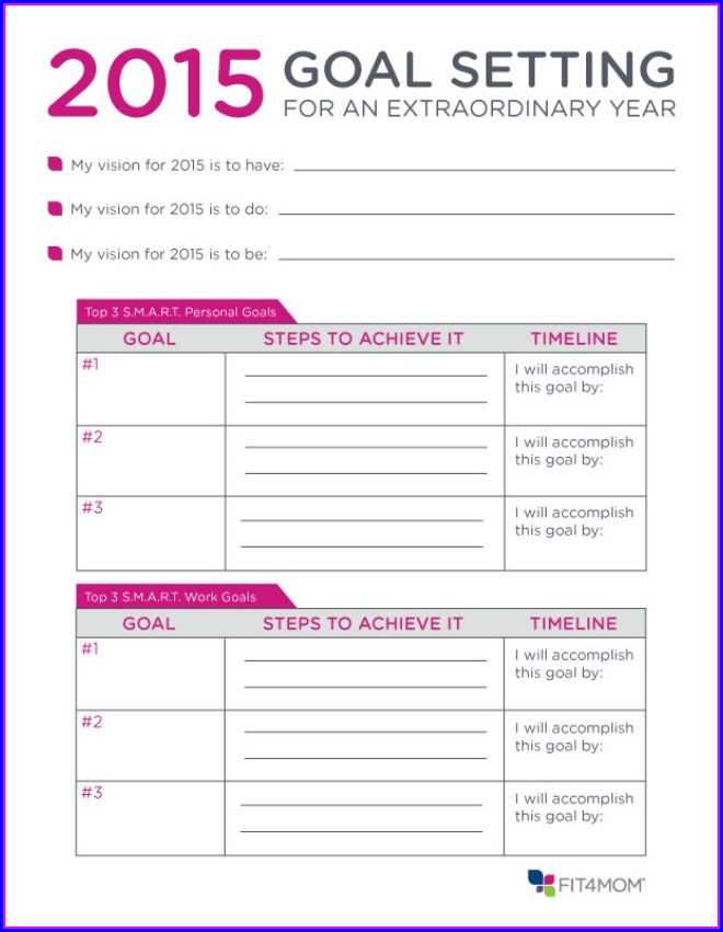 Goal Setting And Time Management Worksheet