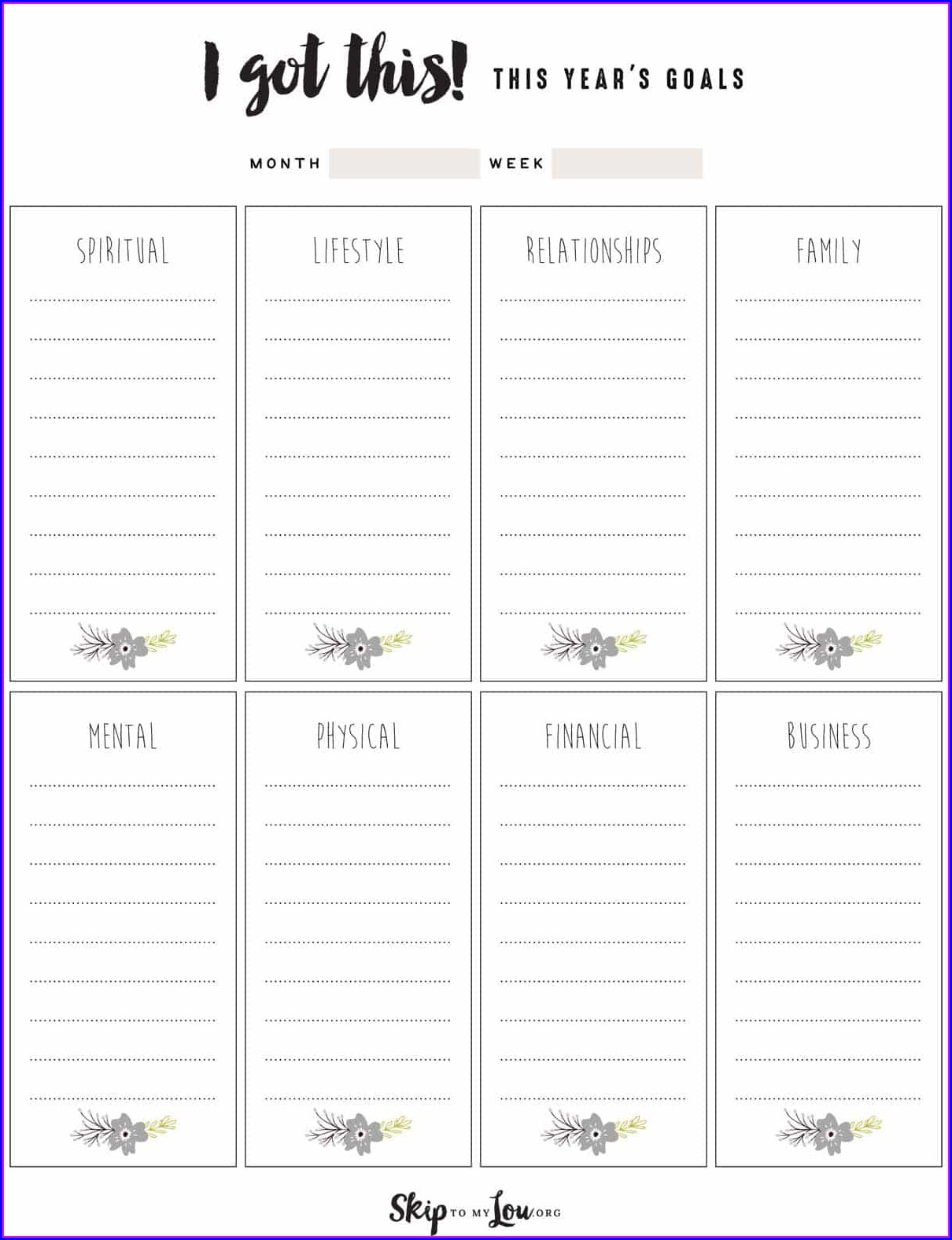 Goal Setting Worksheet For Young Adults