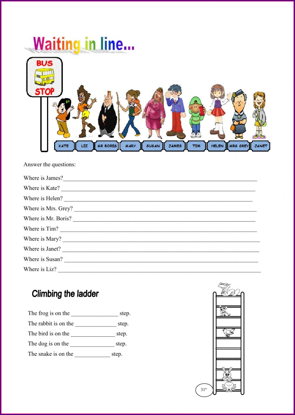 Grade 1 2nd Grade Ordinal Numbers Worksheet
