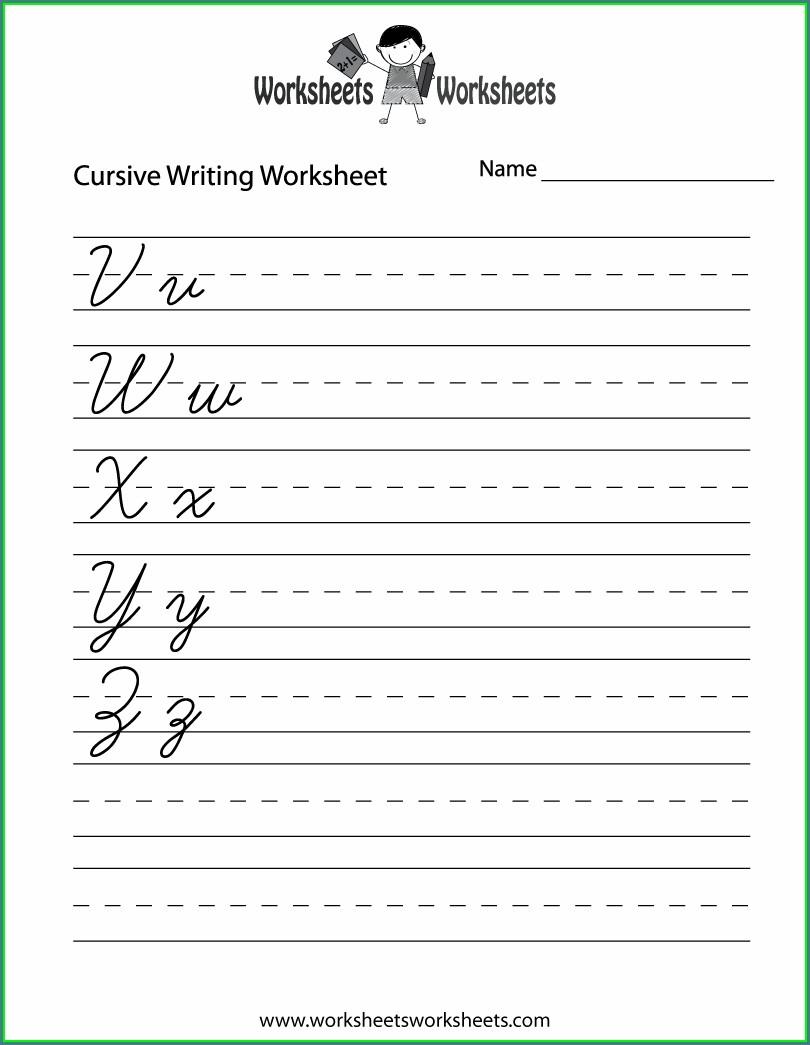 Grade 2 2nd Grade Cursive Writing Worksheets