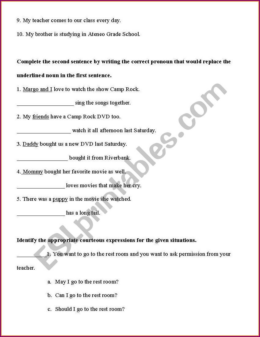 Grade 2 English Language Worksheets