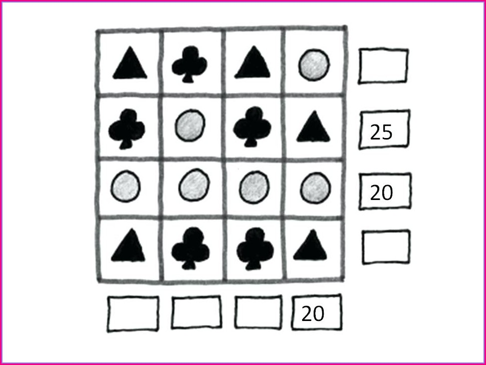 Grade 2 Math Puzzles Worksheets