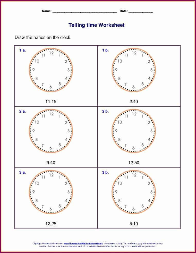 Grade 2 Math Time Worksheets Pdf