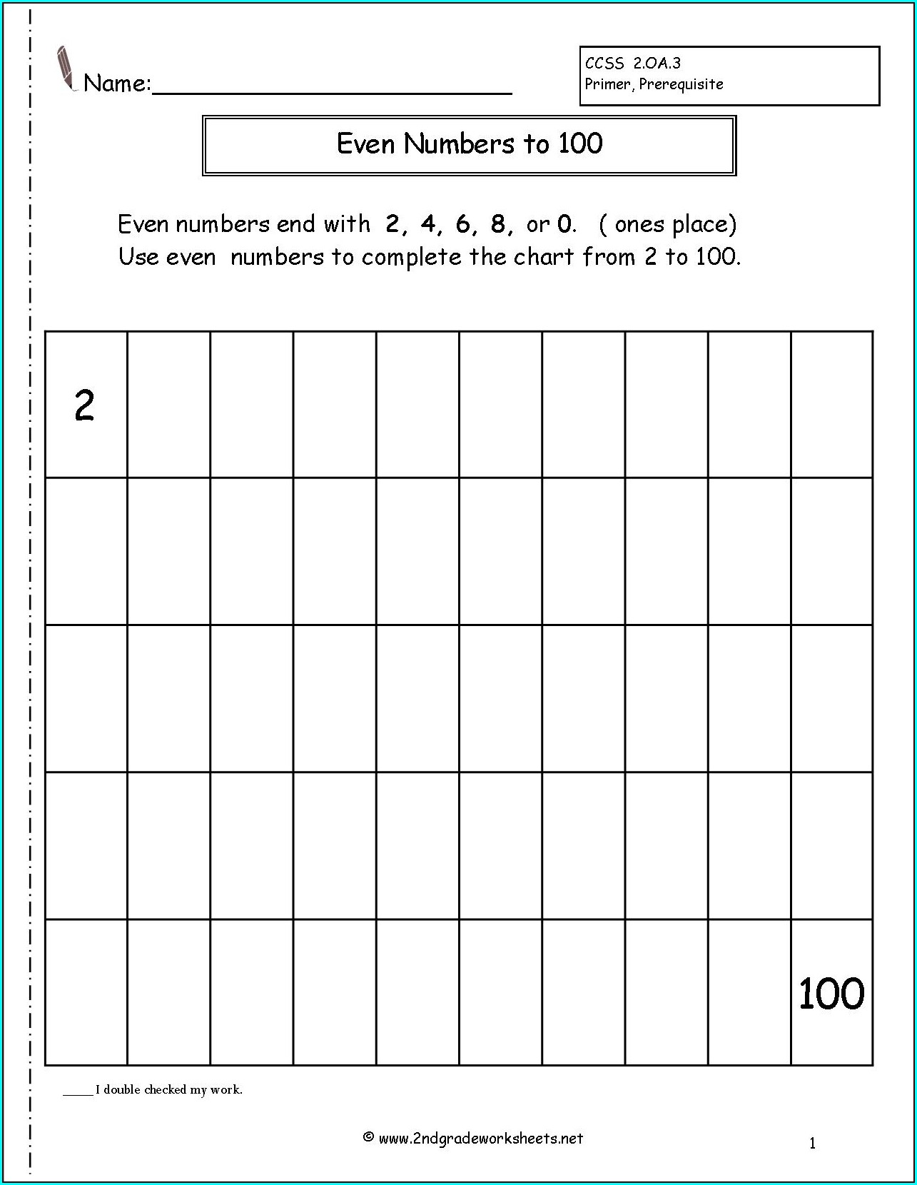 Grade 2 Odd And Even Numbers Worksheet Pdf