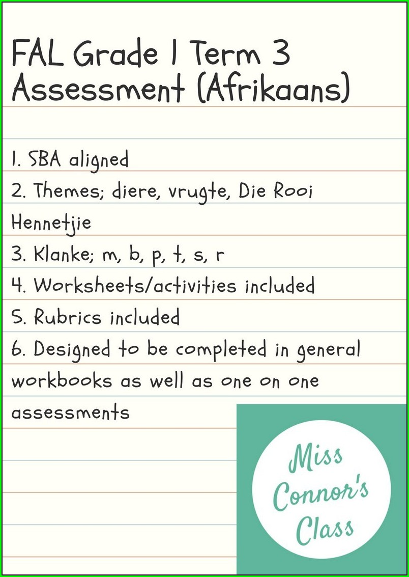 Grade 3 Afrikaans Second Language Worksheets