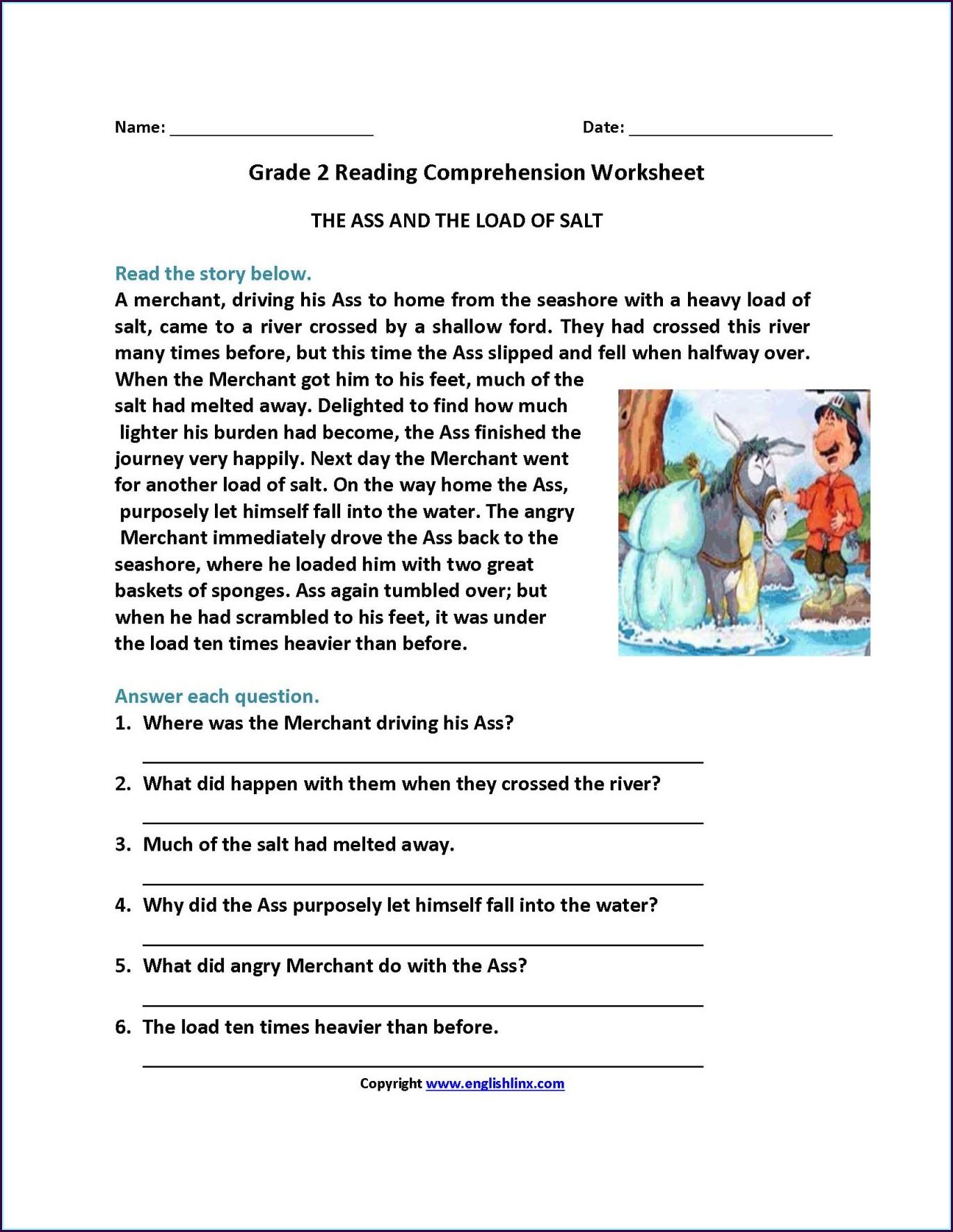 Grade 3 Comprehension Worksheets