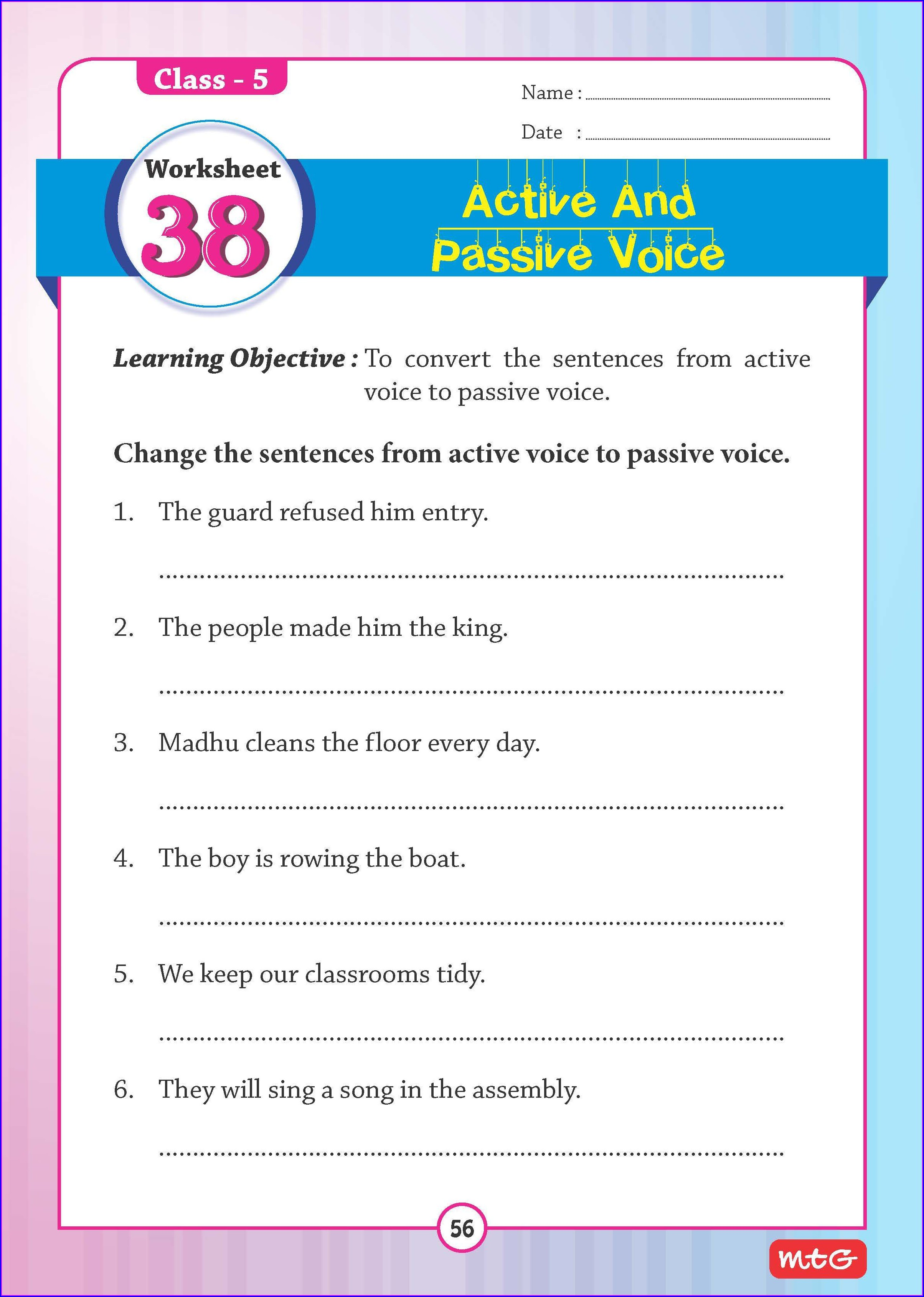 Grade 3 English Grammar Worksheets