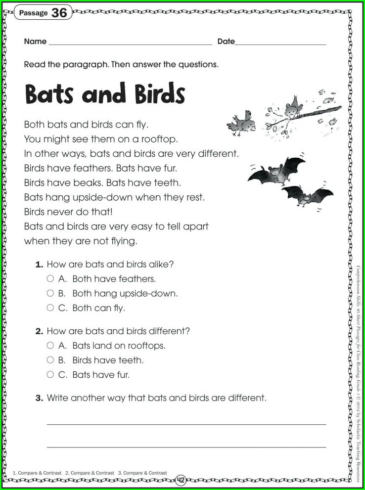 Grade 3 Language Worksheets