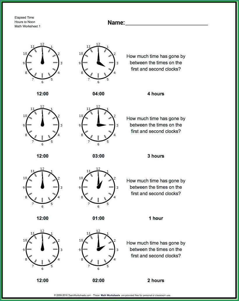 Grade 3 Time Worksheets Pdf