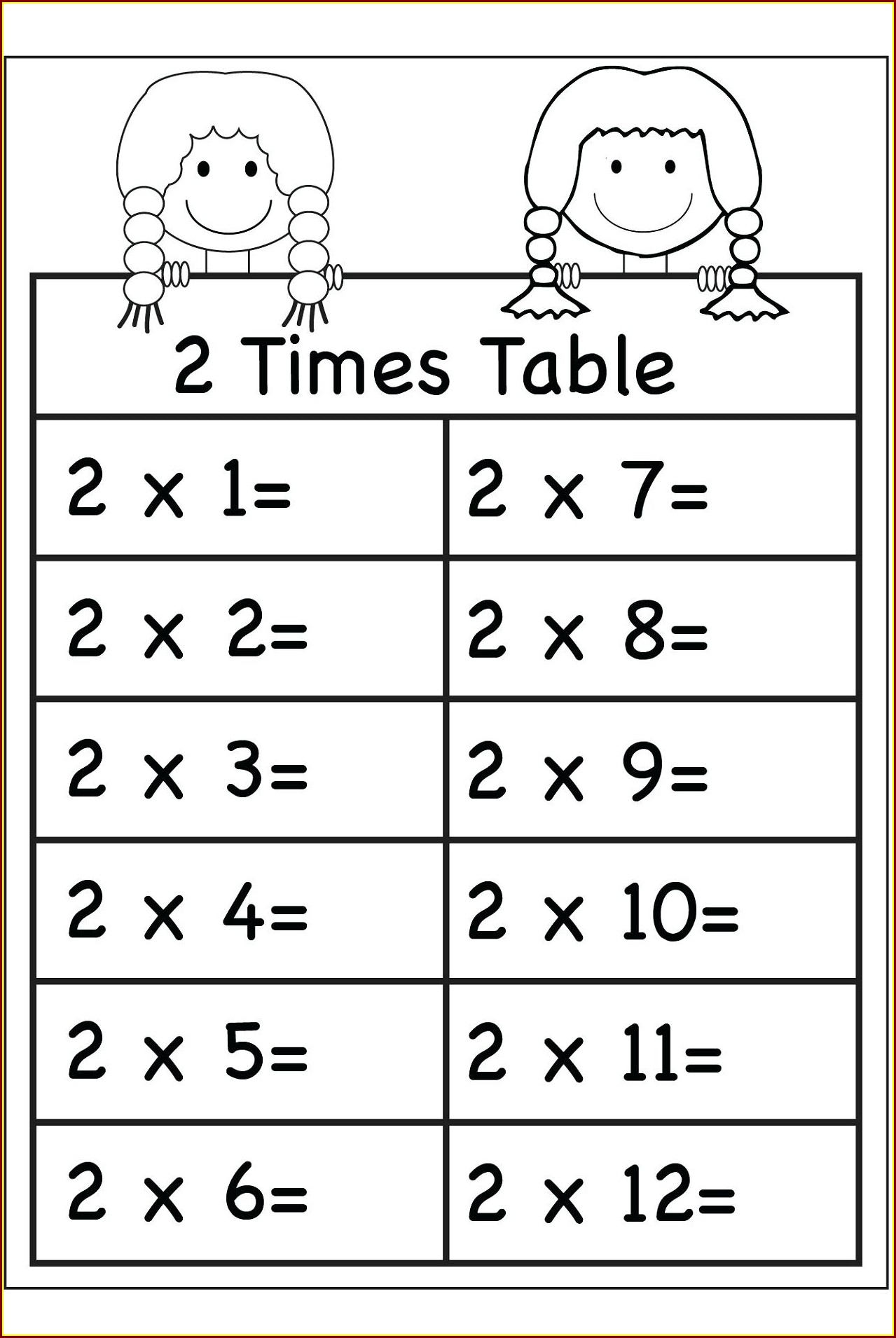 Grade 3 Times Table Worksheets