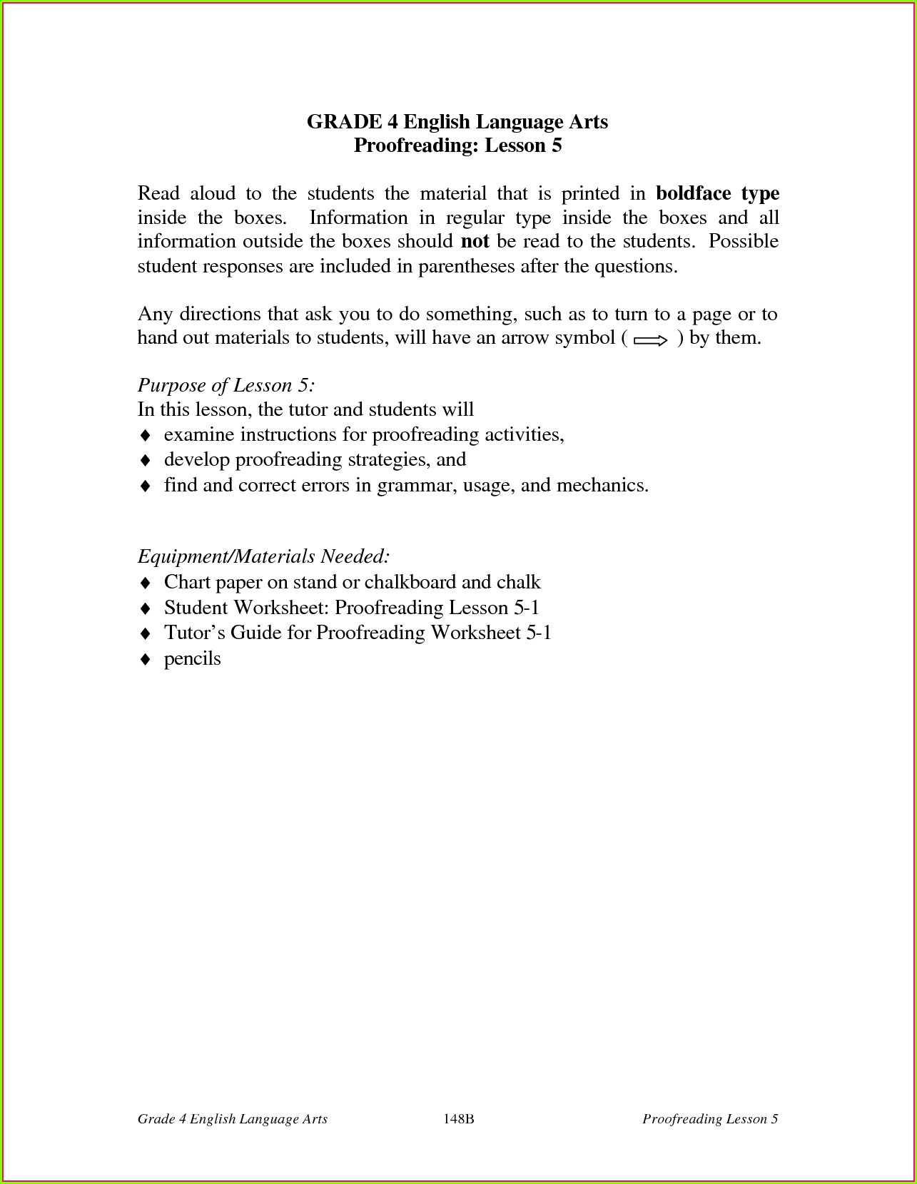 Grade 4 English Grammar Worksheets