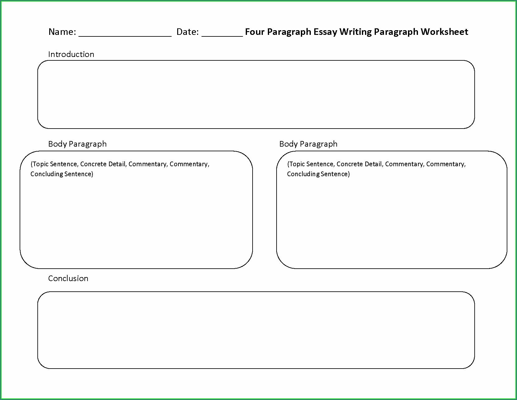 Grade 5 English Paragraph Writing Worksheets