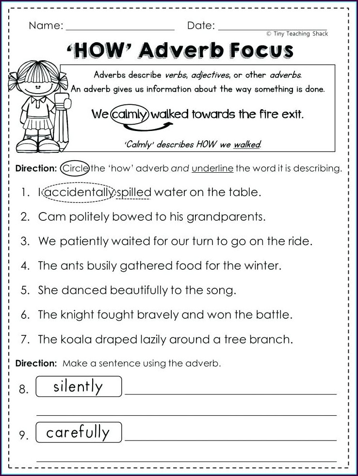 Grade 5 Language Worksheets Pdf