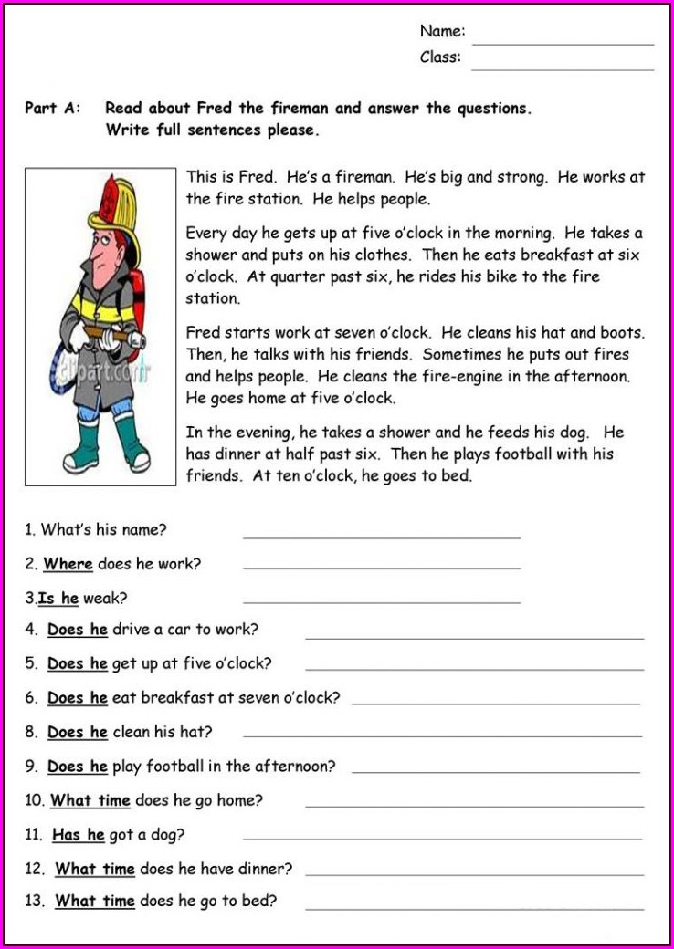 Grade 5 Reading Comprehension Worksheets Pdf