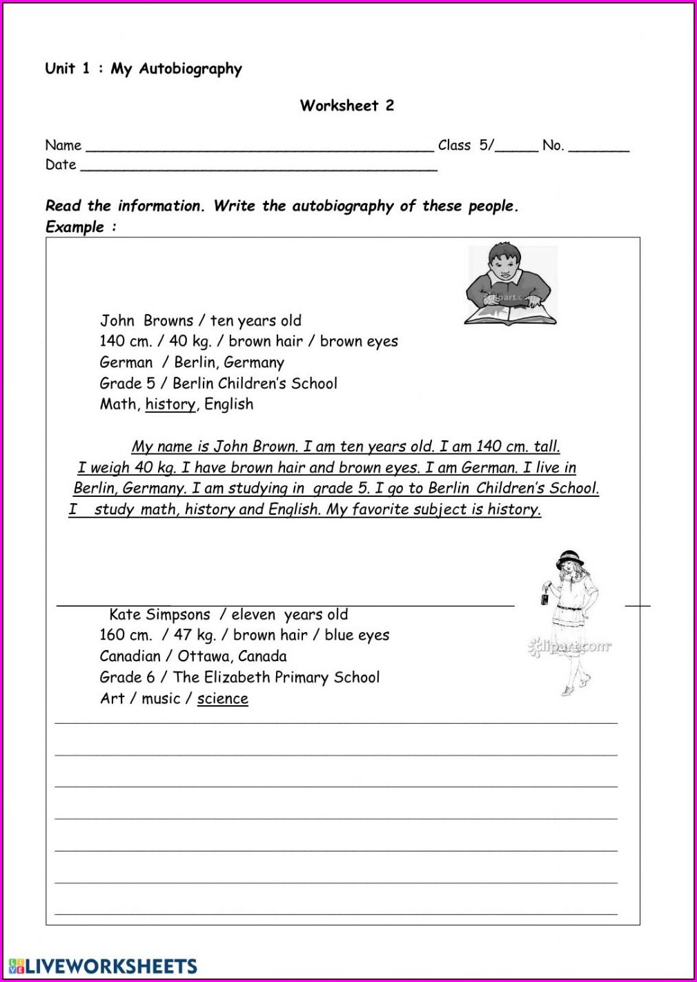Grade 6 English Worksheets Canada