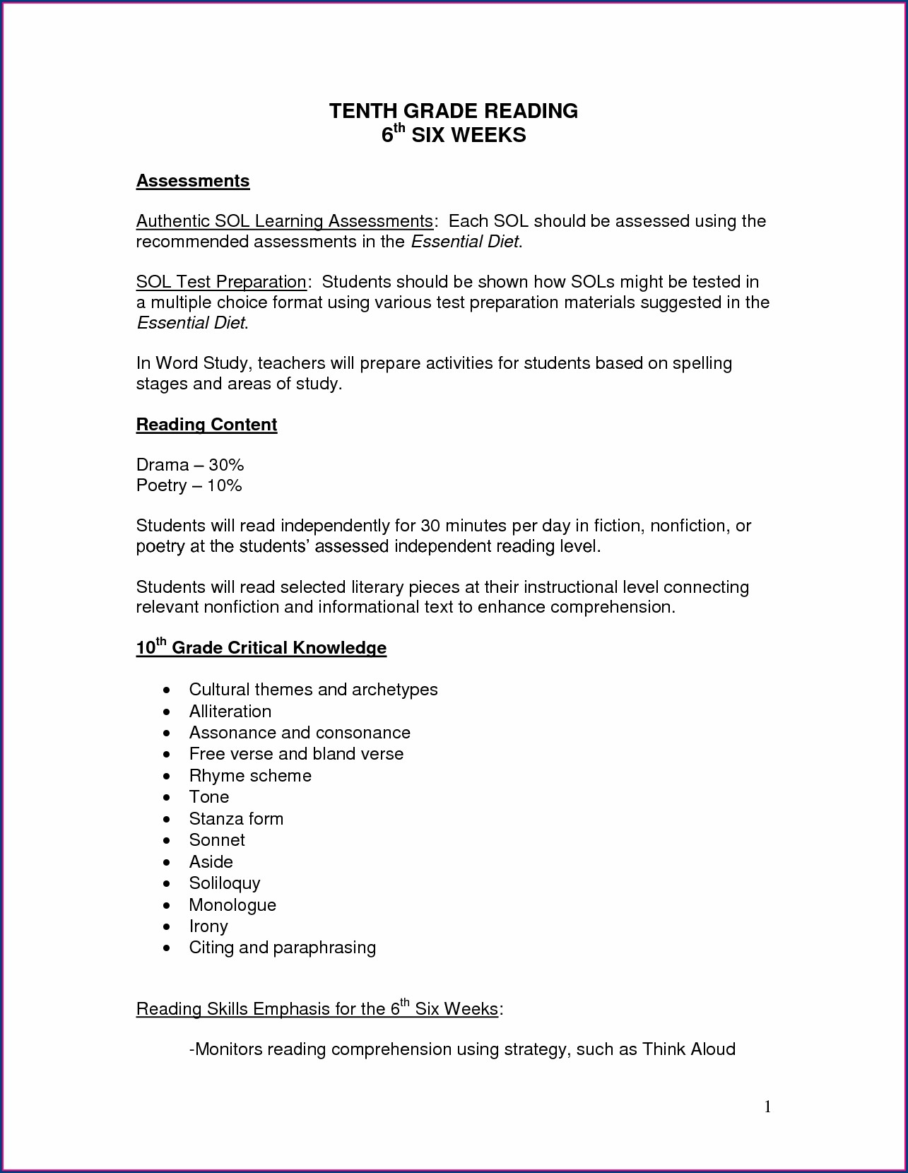 Grade 6 English Worksheets Printable