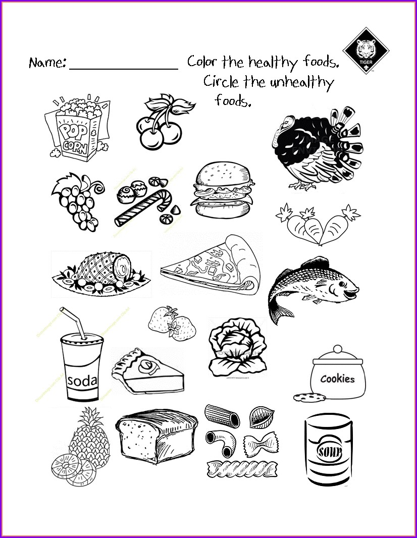 Healthy And Unhealthy Food Worksheet For Preschool Pdf
