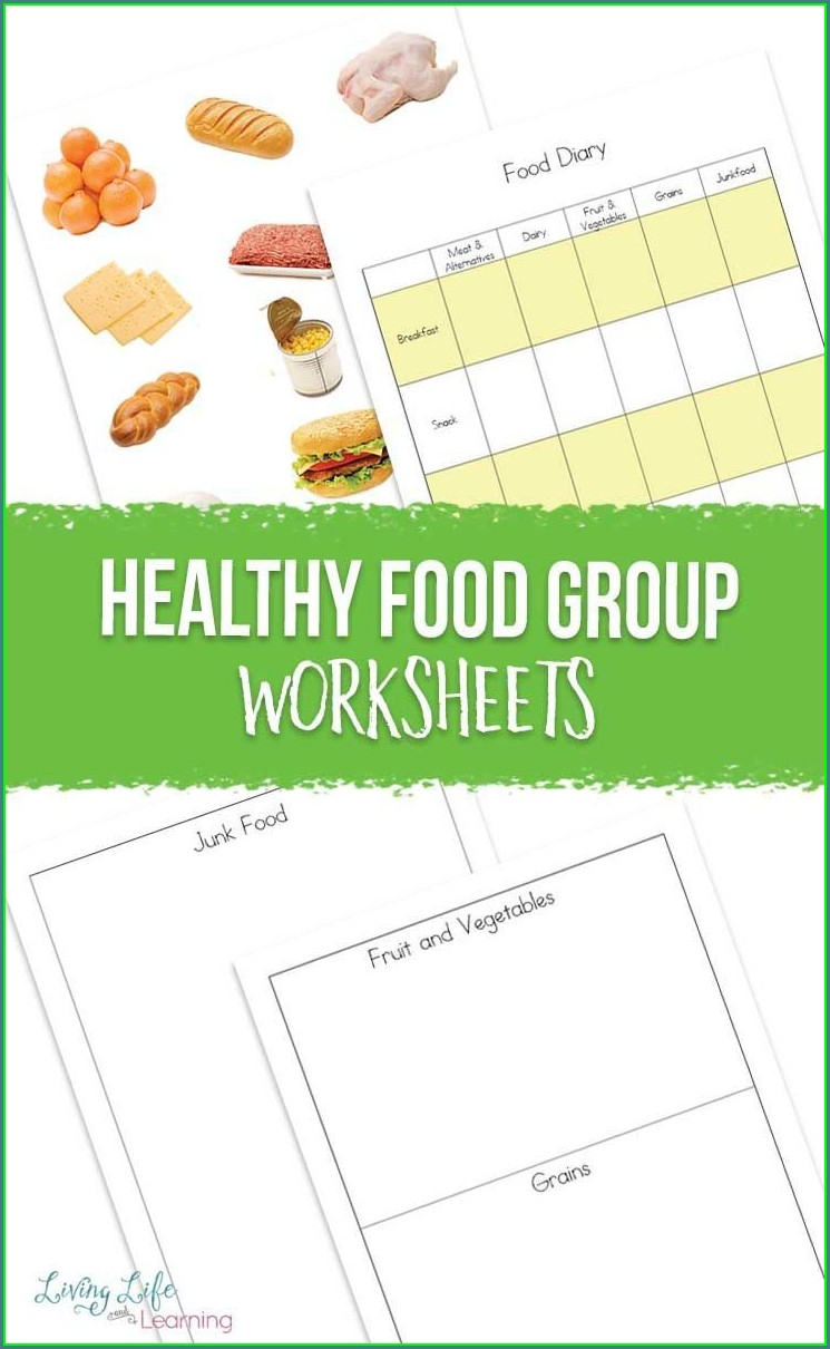 Healthy Worksheets For Kindergarten