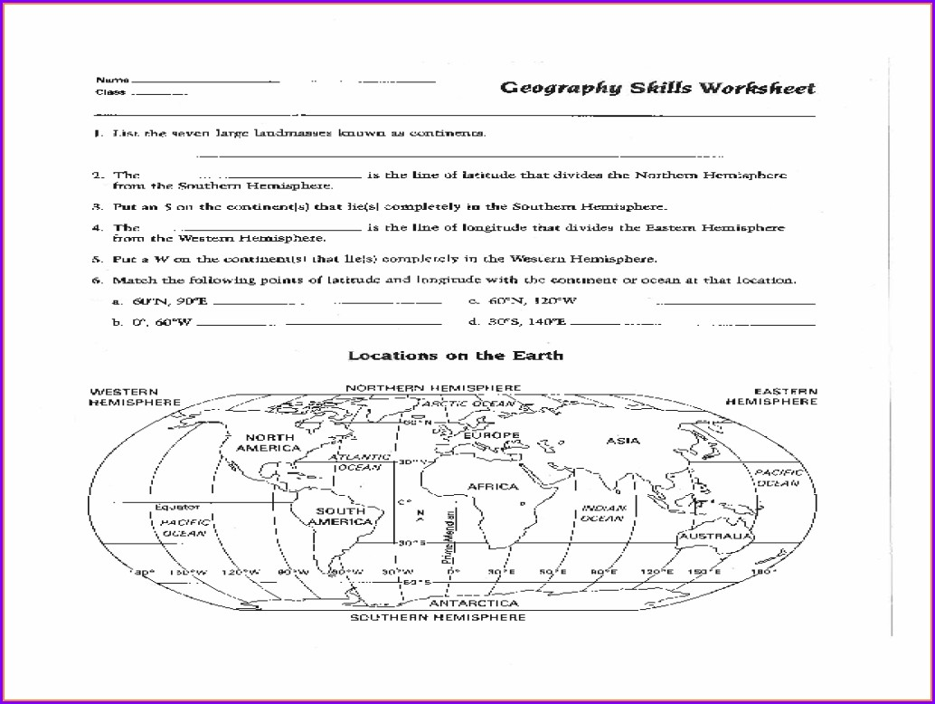 High School Reading A Map Worksheet Pdf