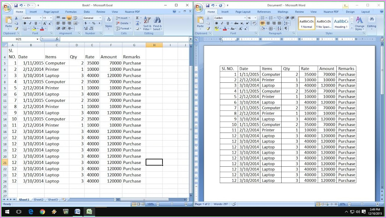 How To Copy Excel Worksheet Into Word