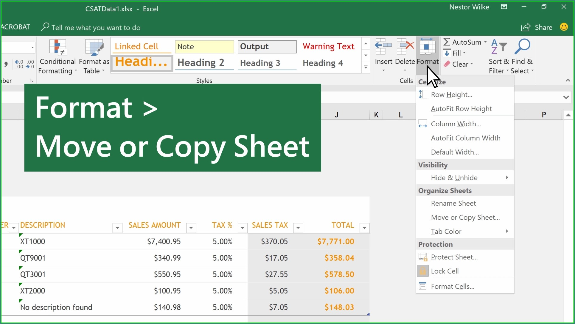 How To Copy Excel Worksheet With Formatting
