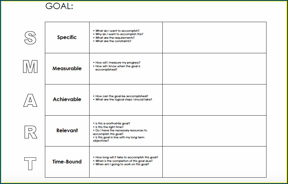 How To Fill Goal Setting Worksheets