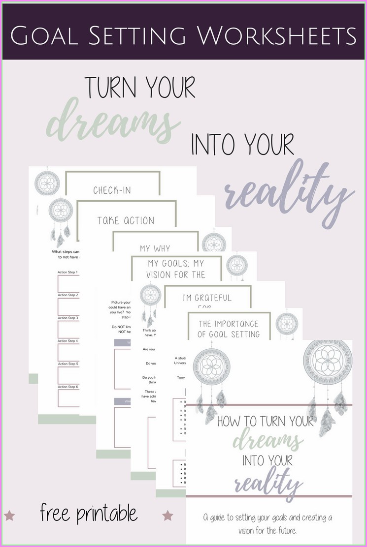 How To Goal Setting Worksheets