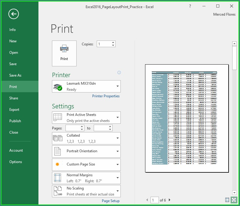 How To Print An Excel Worksheet On One Page