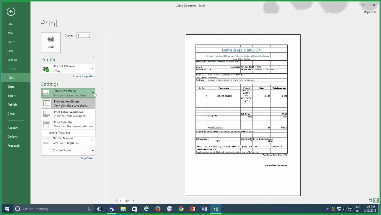 How To Print Excel Worksheets Double Sided