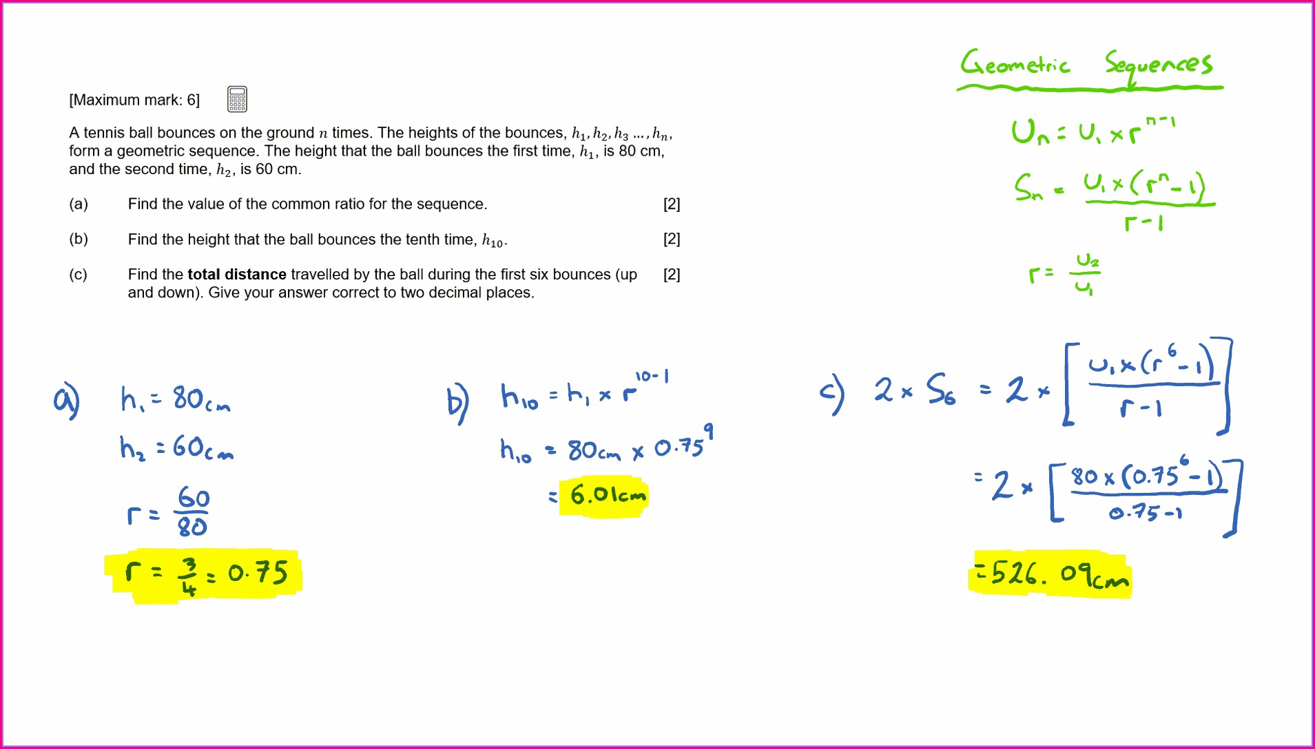 Ib Math Studies Sequences And Series Worksheets