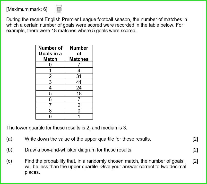 Ib Math Studies Statistics Worksheets
