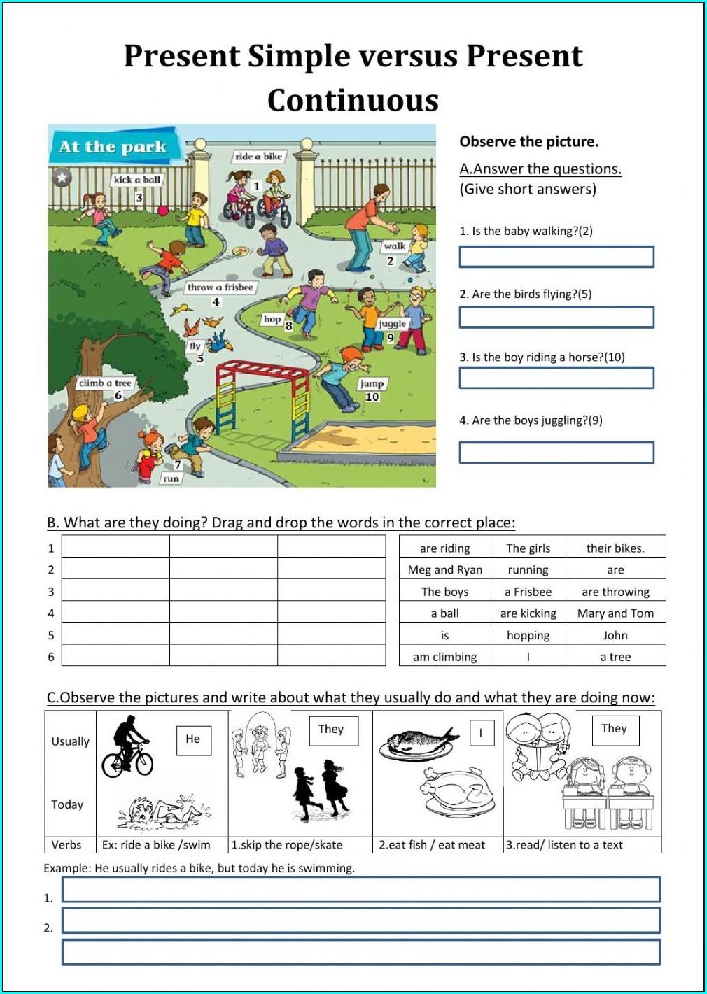 Imprimir Simple Present Worksheets Printable Pdf