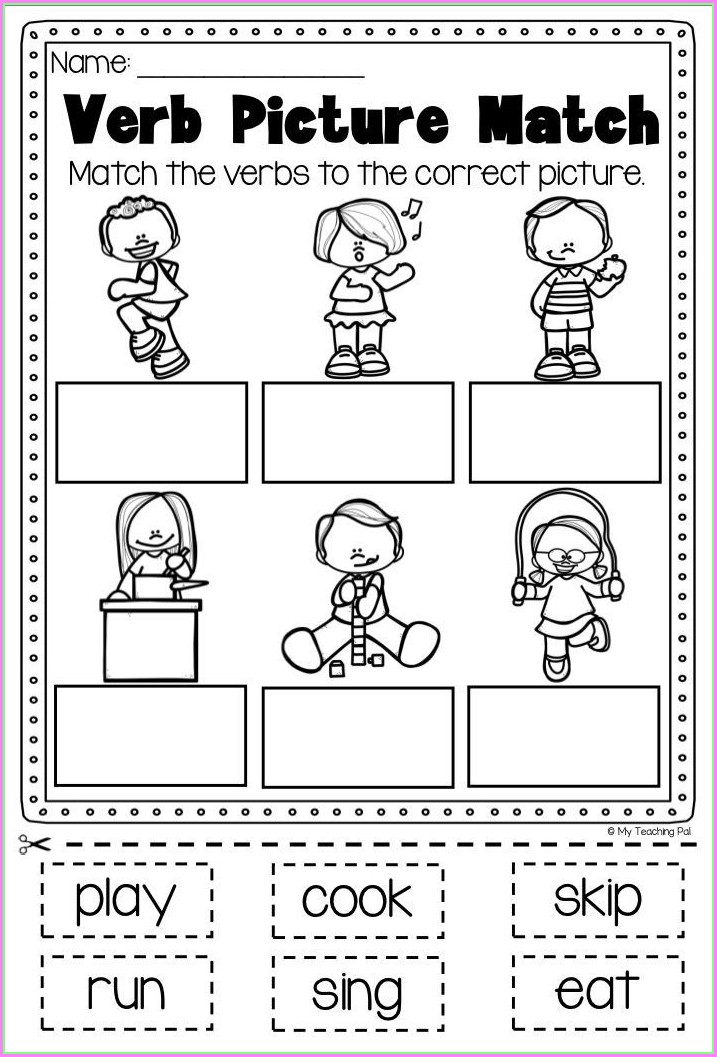 Irregular Verbs Worksheet For First Grade