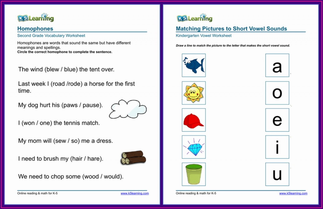 K5 Learning Grade 4 Math Worksheets